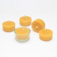 Teelicht Set 5 Kerzen inkl. 1 schönen Glasschale