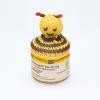 Honigglas mit Bienen-Deko