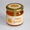 "Bio-Honig mit Gruß ""Happy Birthday"""