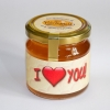 """Bio-Honig mit Gruß """"I love you"""""""